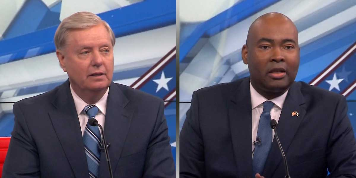 Lindsey Graham and Jaime Harrison