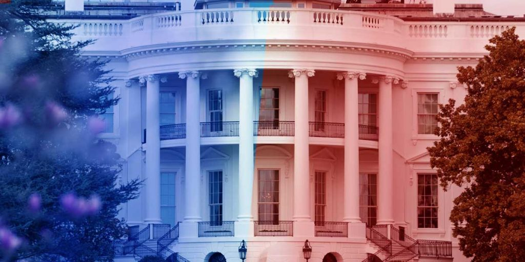 Red - Blue - White House